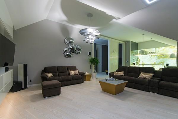 Gdansk modern apartment living room lighting