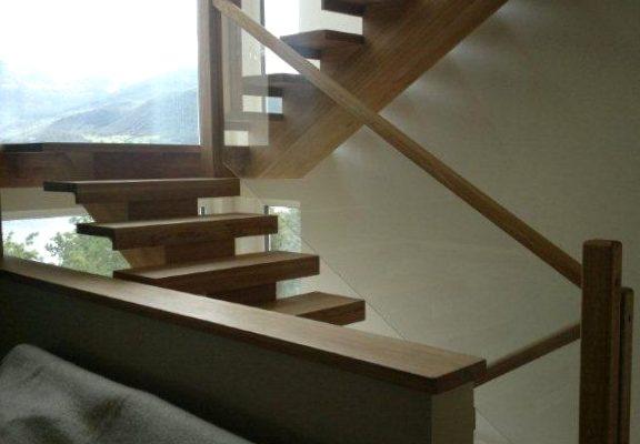 custom joinery wood bespoke stairs glass