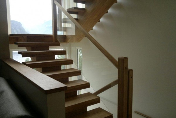 custom joinery wood bespoke stairs glass